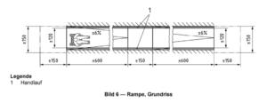 Grundriss einer Rampe